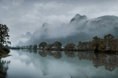 Morning fog on Yulong River