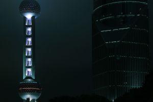 Oriental Pearl by night