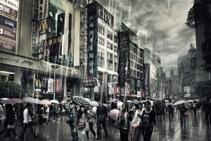 Rain in Nanjing Lu